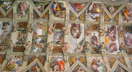 a part of the ceiling of the sistine chapel - Michelangelo Lebenslauf