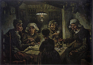 Van Gogh's Potato Eaters Early Painting