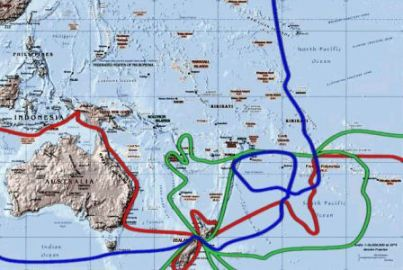 Routes of Captain James Cook