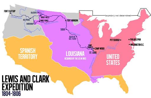 Route of Lewis and Clark