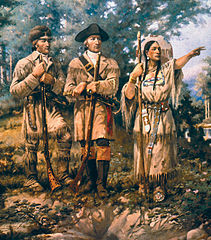 Lewis and Clark with Sacagewea