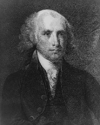Black and White James Madison Portrait