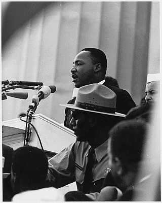 the influence of dr martin luther king jrs i have a dream speech to equality in our modern world Martin luther king jr was the most important voice of the american civil rights movement, which worked for equal rights for all he was famous for using nonviolent resistance to overcome injustice.
