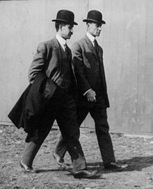 Wright Brothers walking together