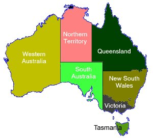 Geographical Map Of Australia.Geography For Kids Australia