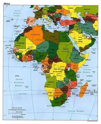 Geography for kids african countries and the continent of africa map of africa gumiabroncs Gallery