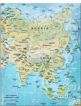 Map Of Asia Rivers And Seas.Geography For Kids Asian Countries And The Continent Of Asia