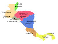 Cenral America Map.Geography For Kids Central America And The Caribbean