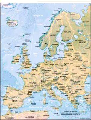 Geography for Kids: European countries flags, maps, industries