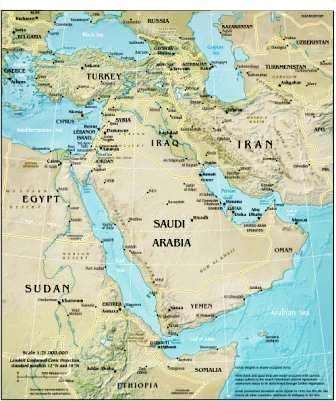 Map of Middle East