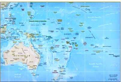 Geography For Kids Oceania And Australia - Physical map of oceania