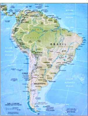 Map ofSouth America