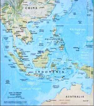Map Of Asia Rivers And Seas.Geography For Kids Southeast Asia
