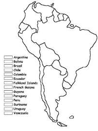 photo relating to Printable South American Map named Geography for Young children: South The us - flags, maps, industries