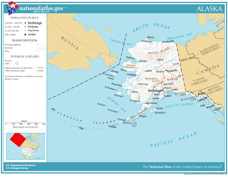 United States Geography For Kids Alaska - Mt mckinley on us map