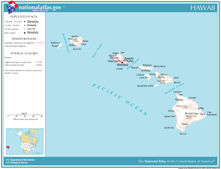 United States Geography For Kids Hawaii