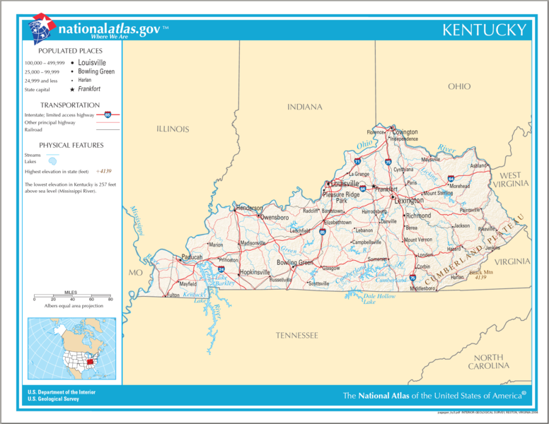 Gallery For Gt Kentucky Map For Kids