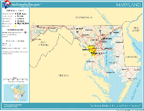 United States Geography For Kids Maryland