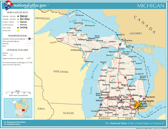 United states geography for kids michigan atlas of michigan state gumiabroncs Images