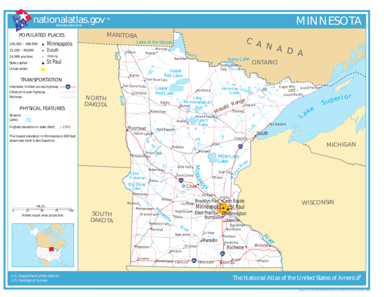 United States Geography For Kids Minnesota - Minnesota-in-us-map