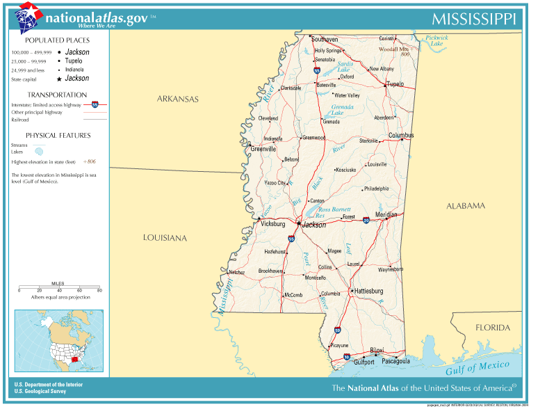 United States Geography for Kids: Mississippi