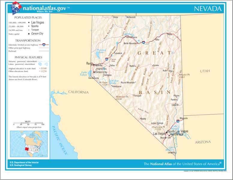 United States Geography for Kids Nevada
