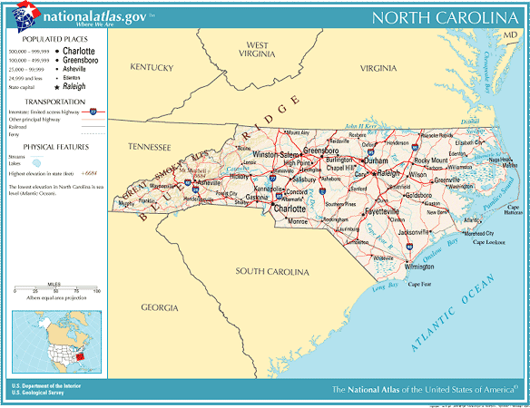 atlas of north carolina state click on map