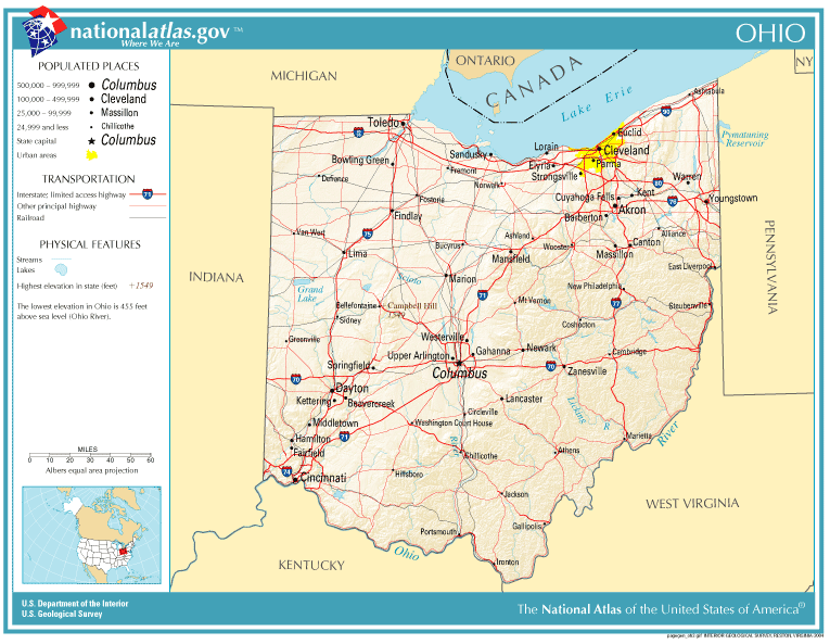United States Geography For Kids Ohio