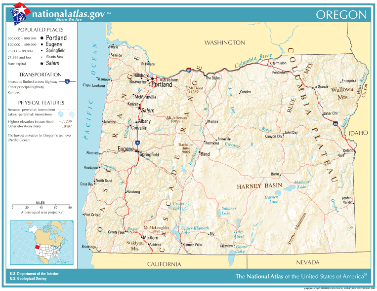 United States Geography for Kids Oregon