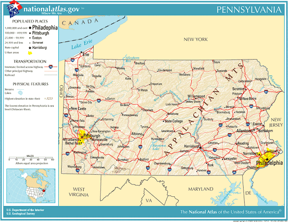 United States Geography For Kids Pennsylvania