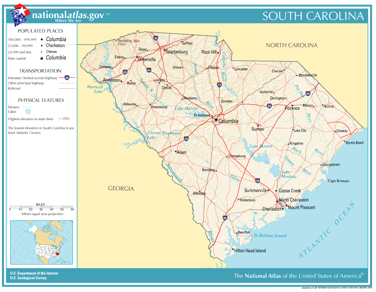 United States Geography For Kids South Carolina