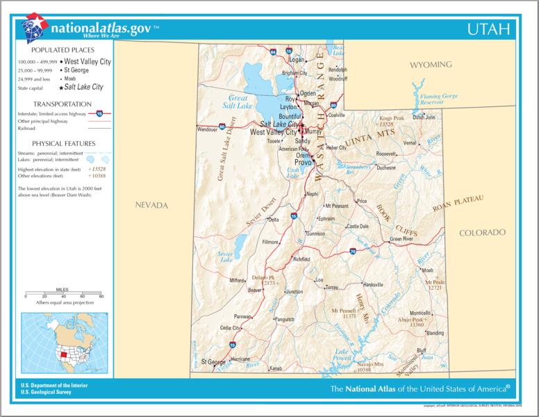 United States Geography For Kids Utah