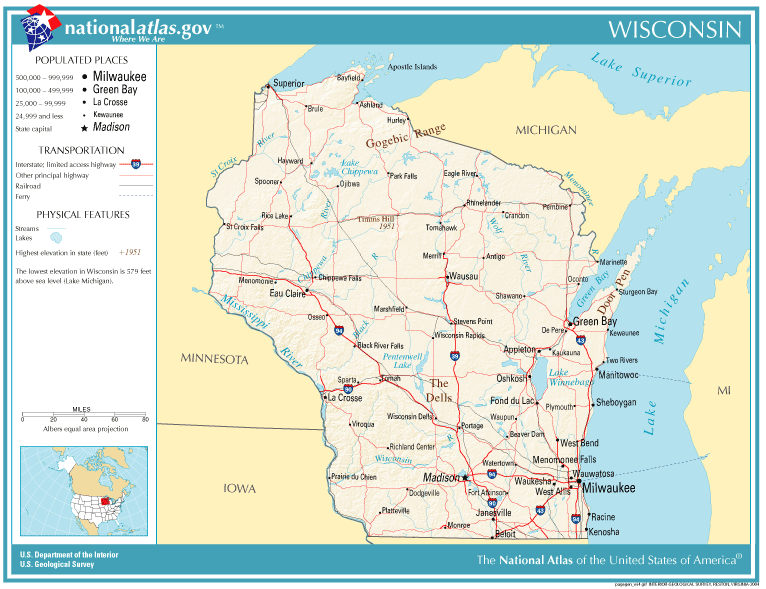 United States Geography For Kids Wisconsin