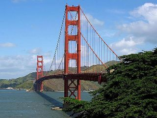 The Golden Gate Bridge near San Francisco