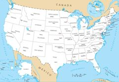 Geography For Kids United States - Map of the us states and capitals