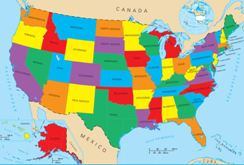 Geography For Kids United States - Us map with geographical features