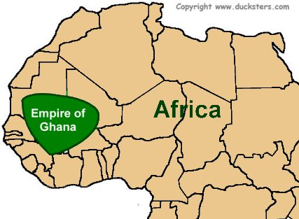 Ancient africa for kids empire of ancient ghana map of the ghana empire sciox Images