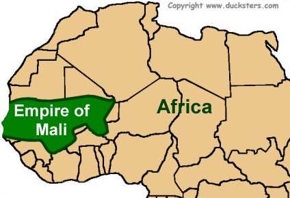 Ancient africa for kids empire of ancient mali map of the mali empire sciox Images