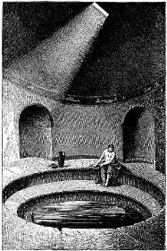 Drawing Of Person Sitting At Side Cold Pool In The Frigidarium