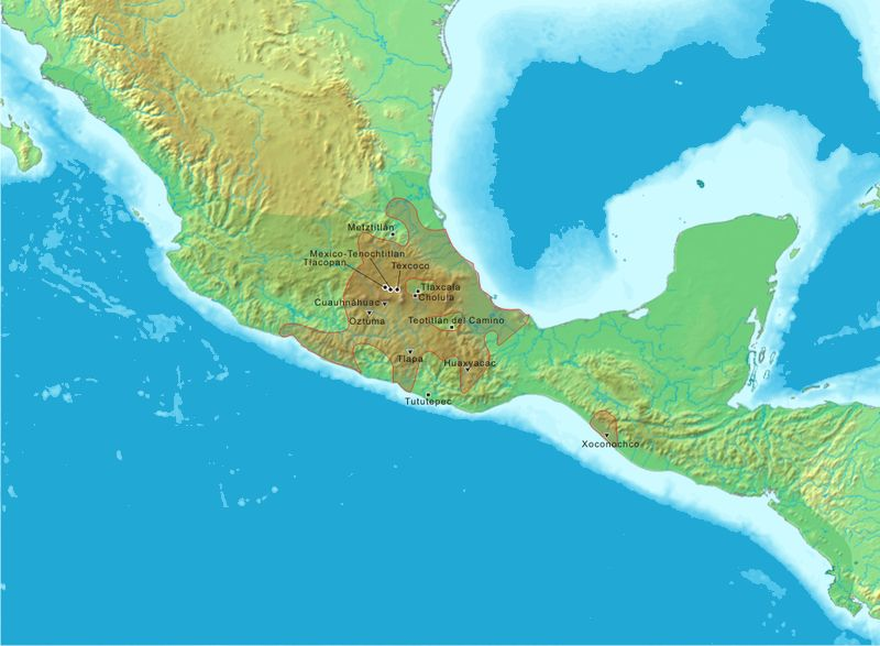 Aztec Empire World Map.Aztec Empire For Kids Government And Empire