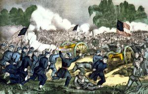 Battle of Gettysburg by Courier  amp  Ives Ducksters