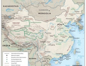 Kids history geography of ancient china map showing the geography of china gumiabroncs Gallery