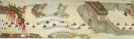 An Ancient Painting Of The Walls Forbidden City