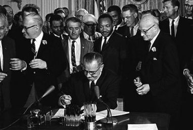 LBJ Signing the 1964 Act