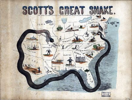 an analysis of winfield scotts anaconda plan The anaconda plan is the name applied to a us union army outline strategy for  suppressing the confederacy at the beginning of the american civil war  proposed by union general-in-chief winfield scott, the plan emphasized a.