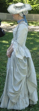 Woman in colonial era gown