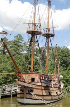 Susan Constant ship in the harbor