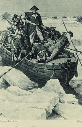 George Washington Christmas Meme.American Revolution Crossing The Delaware