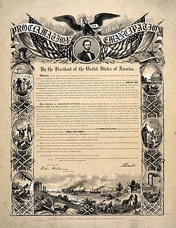 emancipation proclamation the freedom of all men in the united states The emancipation proclamation (excerpt) in addition to abolishing slavery in the rebellious confederate states on january 1, 1863, lincoln's proclamation announced that the union army and navy would accept black men in their ranks.