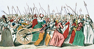 Women marching on Versailles carrying weapons
